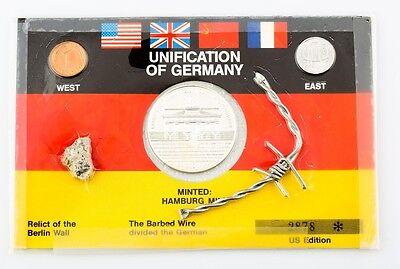 Coins & Paper Money Straightforward 1989 Unification De Alemania .999 Plata Redondo Set Us Edición 2878 Other Bullion