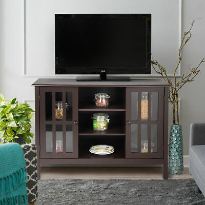 Classic Design Wood Storage Console Free Standing Cabinet For Tv Up To 45 Media Entertainment Center