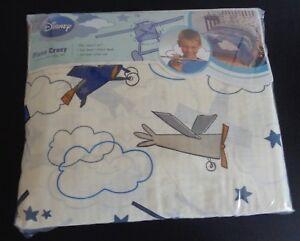 DISNEY-Twin-PLANE-CRAZY-Sheet-Set-NEW-Flat-Fitted-Sheet-amp-Pillowcase-FREE-SHIP