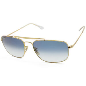 9d0a4b746b Ray-Ban RB3560 001 3F The Colonel Gold Blue Gradient Men s Metal ...