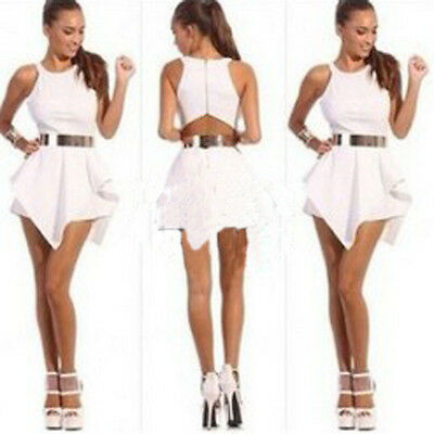Women's Bandage Bodycon Dress Cocktail Jumpsuit Playsuit Party Rompers White