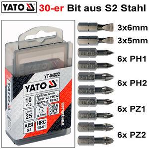 Bitbox mit 30 Bits Kreuz Bits Philips PZ1 PZ2 PZ3 Bitsatz Bits S2 Stahl Bitset