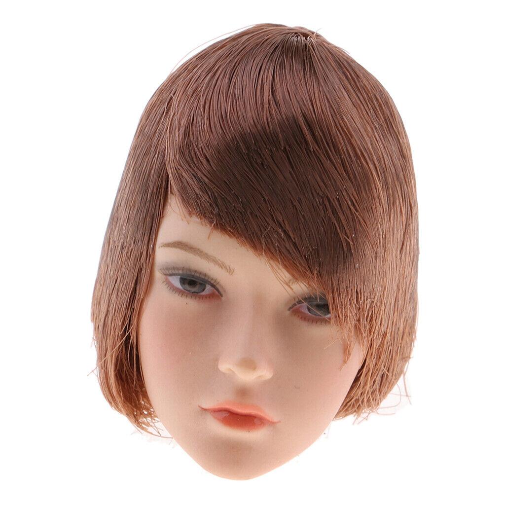 1 6 Escultura de cabeza de pelo corto esculpir para Phicen Kumik figuras de acción de 12 pulgadas