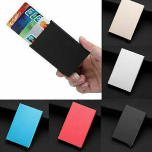 Carta-di-credito-RFID-ID-Slim-In-Alluminio-Titolare-Portafoglio-Protettore