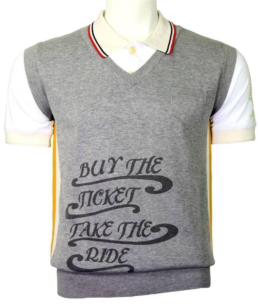 Galliano fake vest and polo grey grey