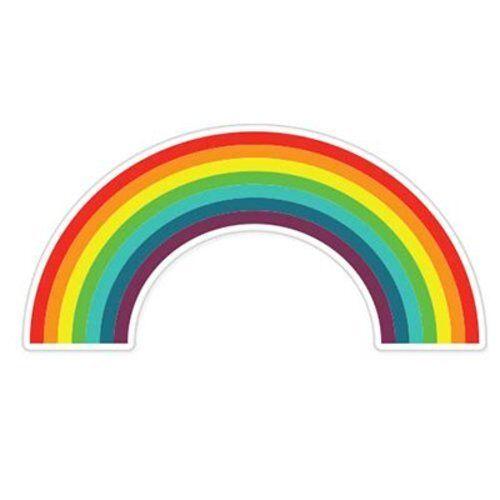 Rainbow Mignon famille enfants voiture de vinyle autocollant-sélectionnez la taille