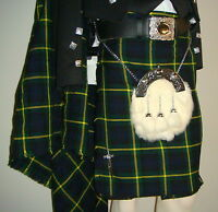 Scottish | Gordon Tartan Heavy Kilt & Kilt Pin | Geoffrey