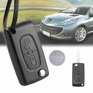 housse de cl/é en silicone pour Peugeot 207 307 308 407 3 boutons Noir