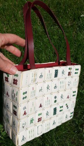 Vintage Majong Tile Purse Handbag Asian/Oriental s