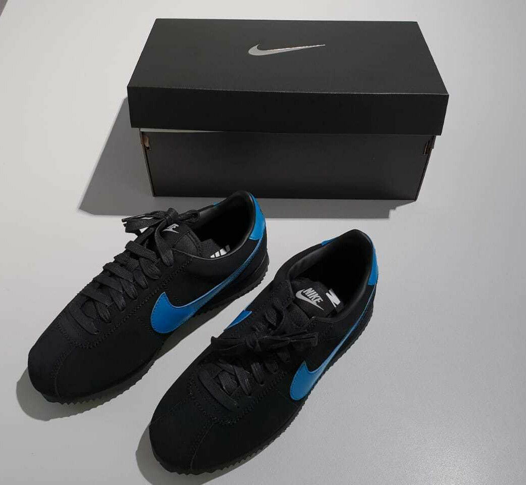 Nike Cortez Basic iD Größe Damenschuh Größe iD 36,5 schwarz / blau NEU, Sneaker 99e46f