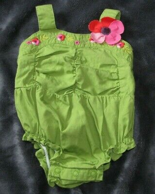 Gymboree Baby Girl 1 pc Romper 0 3 Mos NWT Ruched Tropical Petals *Retail Store*