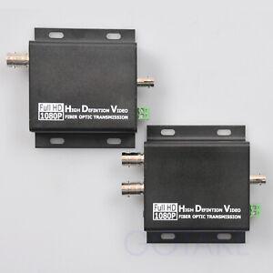 HD-SDI-to-ST-Optic-Converter-10KM-Over-Fiber-CCTV-Camera-Loop-RS485-Serial-Data