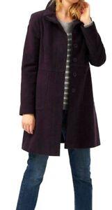 WHITE-STUFF-Purple-Moleskin-Trench-Pinsley-Jacket-Military-Winter-Coat-6-to-18