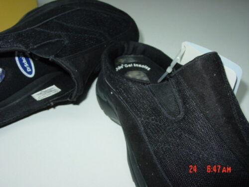 NWT Women/'s Dr Scholl/'s Black Athletic Lakeland Style Slides Gel Cushion NIB