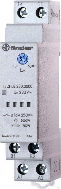 Finder Dämmerungsschalter 1-100Lux 16A 230VAC 11.31.8.230.0000   Starker Wert