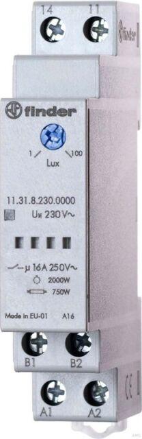 Finder Interrupteur crépusculaire 1-100lux 16 A 230VAC 11.31.8.230.0000