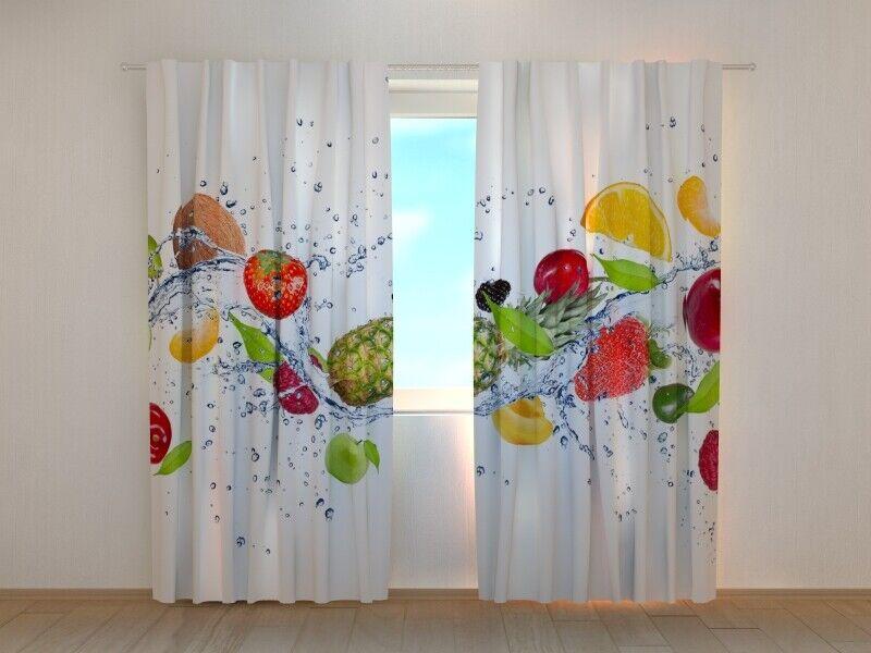 Fotogardine Obst, Vorhang mit Foto, Gardine mit Foto, Maßanfertigung | Garantiere Qualität und Quantität