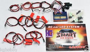 RC-coche-camion-12-Kit-de-iluminacion-LED-Faros-De-Freno-simulado-Real-y-Luz-de-Senal