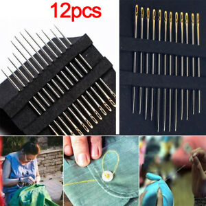 12X-lot-Blind-Needles-Self-threading-Hand-Sewing-Side-Opening-Embroidery-Tool