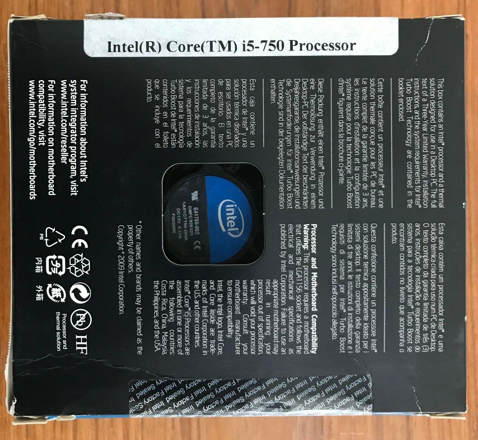 Intel Core i5 750 2 66GHz Quad-Core (BX80605I5750) Processor