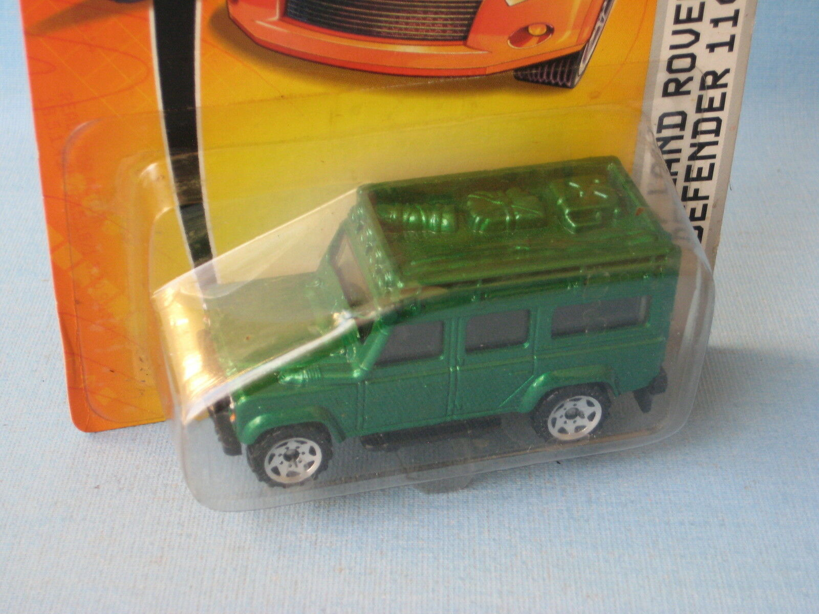Matchbox Land Rover 110 Defender Metallic Green Body Toy Model Car 70mm RARE