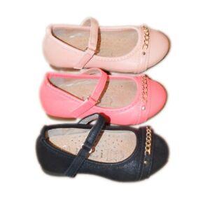 Details zu Mädchenschuhe Kinder Festliche Ballerina Pumps m. Absatz Lackoptik 3 farb (F 66)