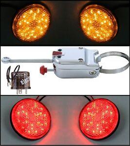 12 volt turn signal switch w led lights flasher. Black Bedroom Furniture Sets. Home Design Ideas