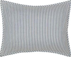 VHC Farmhouse Euro Sham Ticking Stripe Bedding Sawyer Mill Blue Cotton Striped
