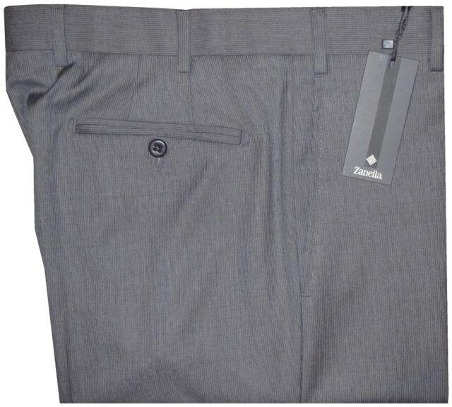 $395 NWT ZANELLA NORDSTROM DEVON GRAY PENCIL STRIPE SUPER 130'S DRESS PANTS 34