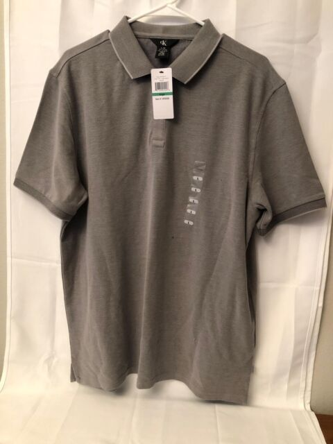 8a9c03809 Calvin Klein Mens Large Lifestyle Polo Shirt Cinder Block for sale ...