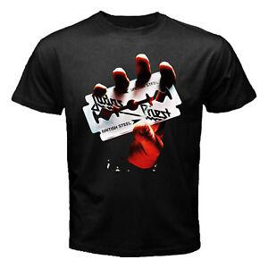 JUDAS-PRIEST-Rock-band-BRITISH-STEEL-1980-BLACK-NEW-T-SHIRT-tour-concert-S-3XL