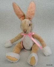 Steiff Lulac Bunny Rabbit Mohair Plush unjointed dangling 43 cm no ID 1970s Vtg
