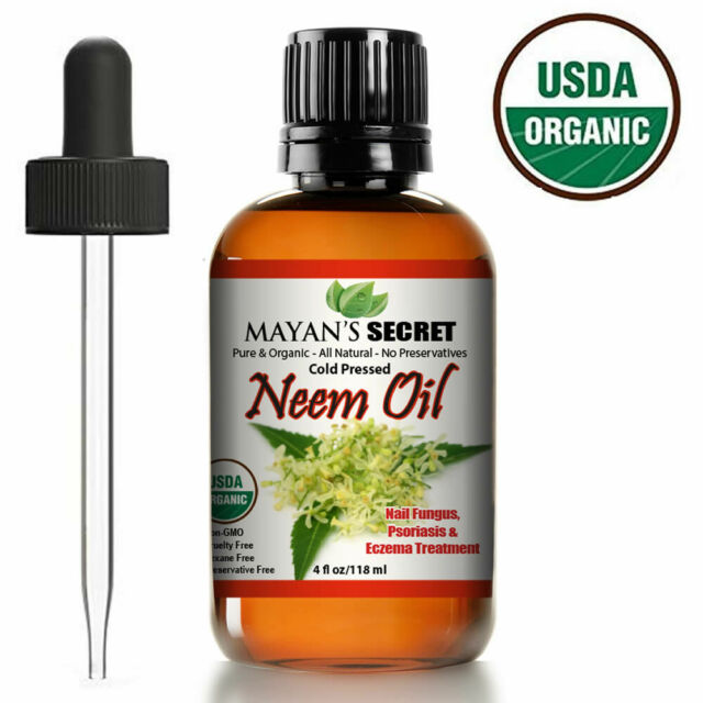 Organic Neem Oil 100 Pure Cold Press Unrefined for Skincare Hair Care and