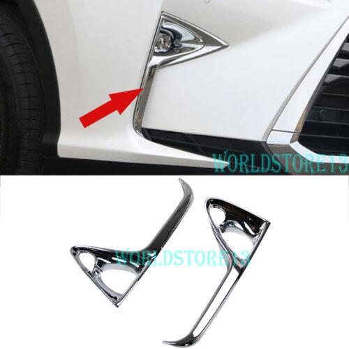 Chrome Front Fog Lamp Light Cover Trim fits Lexus RX450h RX350 F-Sport 2016-2019