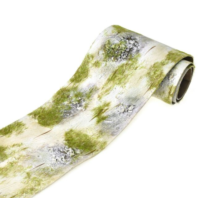 Birch Mat with Artificial Moss, 48-Inch