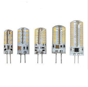 Mini-1-5W-6W-G4-3014SMD-LED-Kristall-lampe-Gluehbirne-Kronleuchter-AC-DC12V-AC230