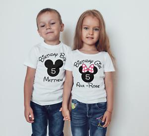 Image Is Loading Disney Inspired Children 039 S Birthday T Shirt