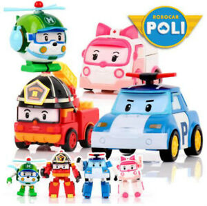 4pcs-Robocar-Poli-Coree-Kids-Robot-Transformation-Anime-Action-Figure-Toys-UK