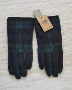 a398e4521f3 Details about NEW MEN S M L XL J CREW LUDLOW LEATHER BLACK WATCH GLOVES
