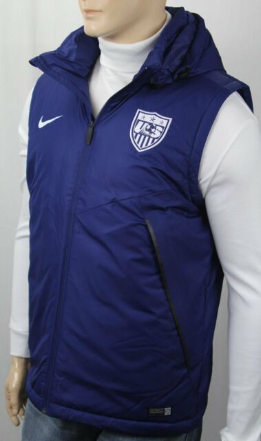 bdebb1059fd9 Nike USA Soccer Team Thermore Full Zip Down Vest Hoodie Storm-fit ...