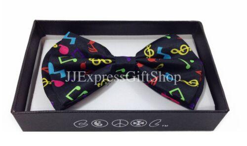 NEW Rainbow Music Note Tuxedo Classic Clip-On BowTie Neckwear Adjustable Bow Tie