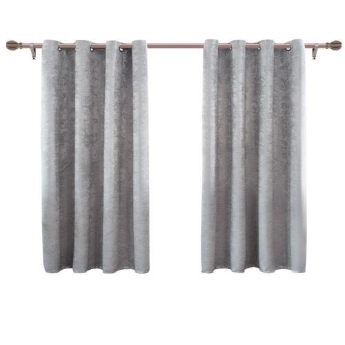2x Vorhang Verdunkelung Ösen Gardinen blickdicht Thermo Damast Grau 175x135 cm