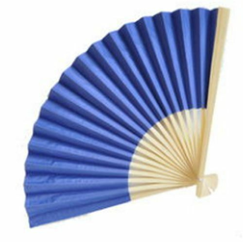 100 Navy Blue Paper Hand Fans Wedding Bridal Shower Party Favors Q16680