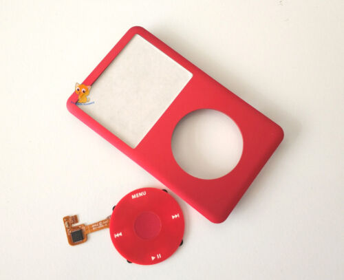 Red Faceplate Housing Case Clickwheel for iPod 6th 7th Classic 80GB 120GB 160GB