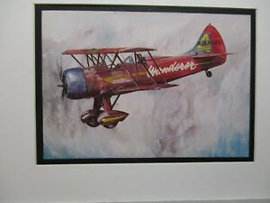 Details about Waco UPF 7 Model Airplane Box Top Art Color artist older  aircraft