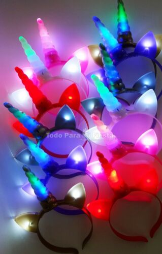 Light Up Unicorn Headbands Flashing Unicorn Party Favors Gift Unicornio Regalos
