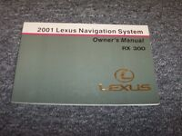 2001 Lexus Rx300 Navigation System Owner Owner's Operator Guide Manual 3.0l V6
