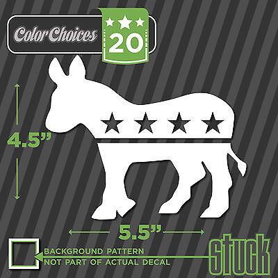 Donkey vinyl decal sticker Democrat