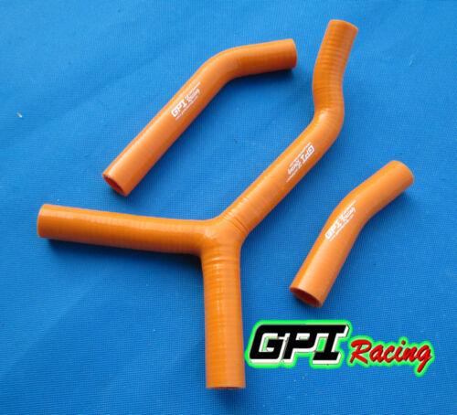 KTM 250 SX S 2003 2004 2005 2006 silicone radiator hose orange
