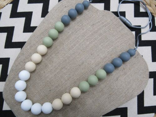 Mommy Baby Silicone Teething Nursing Necklace Teether Jewelry Chew Chewable NEW